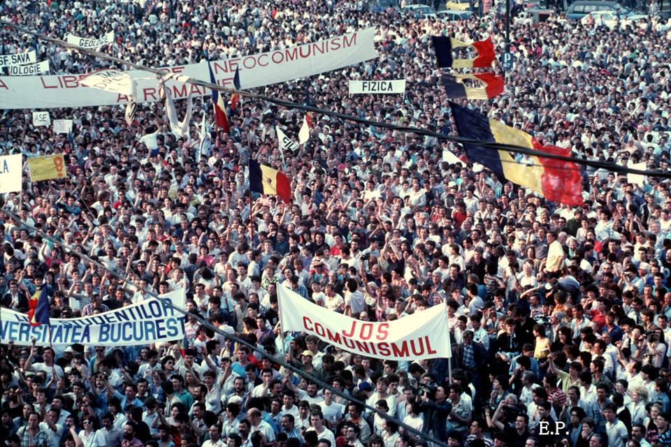Emanuel Parvu - Piata Universitatii 1990 1 - Sursa Fotografi Romani Ro