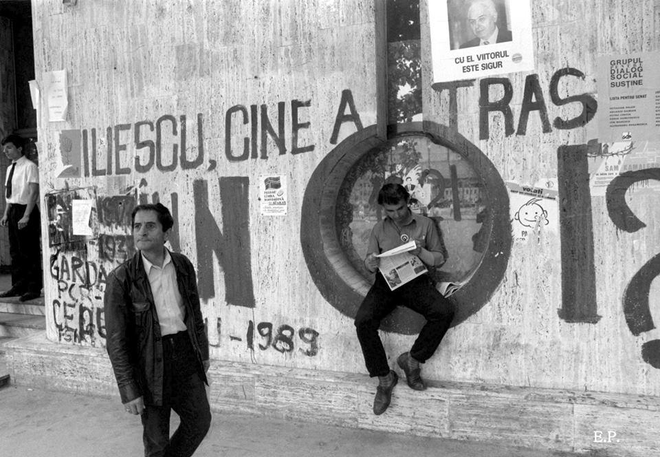 Emanuel Parvu - Piata Universitatii 1990 3 - Sursa Fotografi Romani Ro